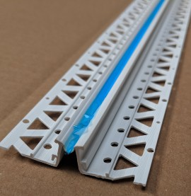 White 13 - 15mm Render Depth PVC Movement Bead 2.5m 1 Length