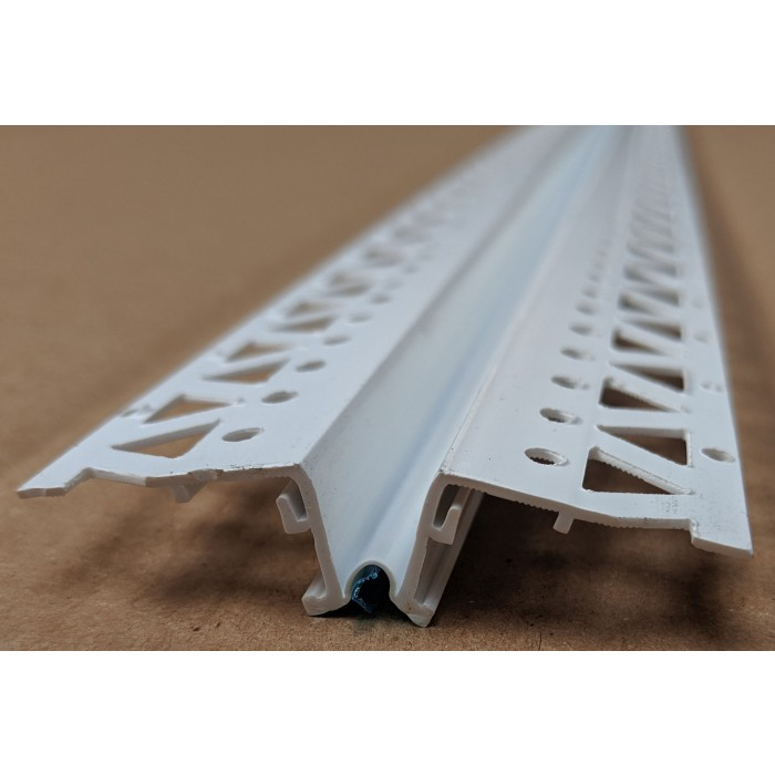 White 13 - 15mm Render Depth PVC Movement Bead 2.5m 1 Length