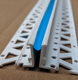 White 15 - 17mm Render Depth PVC Movement Bead 2.5m 1 Length