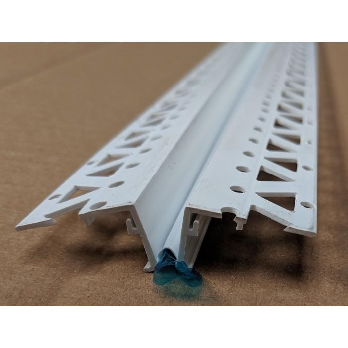 White 20 - 22mm Render Depth PVC Movement Bead 2.5m 1 Length