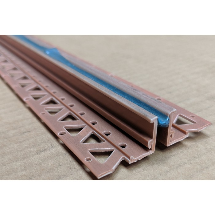 Terracotta 15 - 17mm Render Depth PVC Movement Bead 2.5m 1 Length