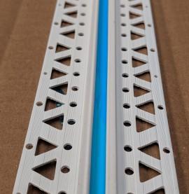 White 4 - 6mm Render Depth PVC Movement Bead 2.5m 1 Length