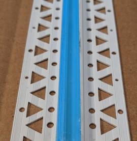 White 6 - 8mm Render Depth PVC Movement Bead 2.5m 1 Length