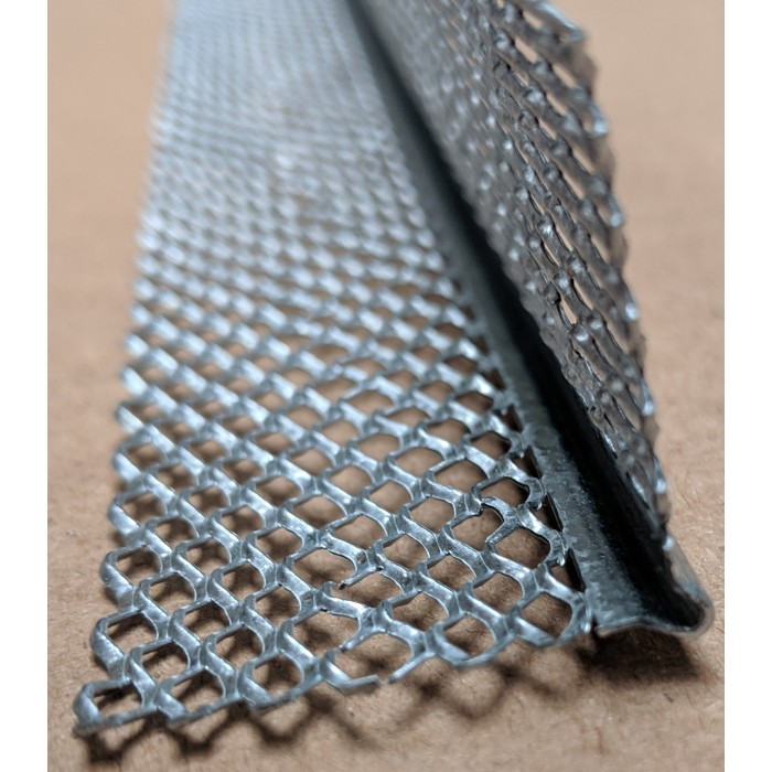 Protektor 3mm x 28mm x 240cm Galvanised Steel Mini Mesh Corner Bead Box 50