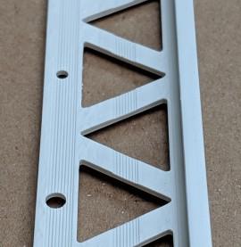 White 6 - 8mm Render Depth PVC Stop Bead 25mm x 2.5m 1 Length