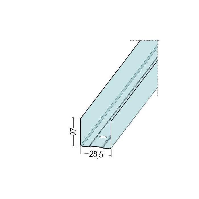 """Protektor Galvanised Steel """"U"""" Perimeter Track Profile 5244/30 (3.0m)"""