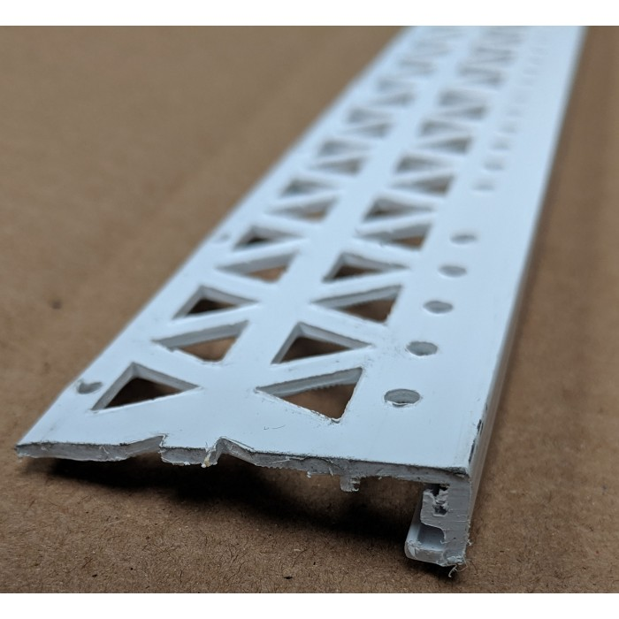White 10 - 12mm Render Depth PVC Stop Bead 42mm x 2.5m 1 Length