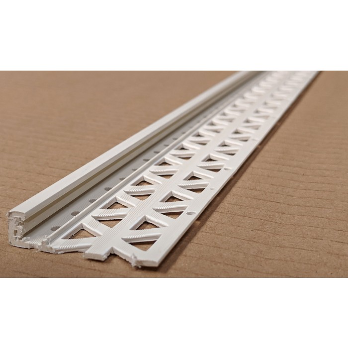 Ivory 13 - 15mm Render Depth PVC Stop Bead 42mm x 2.5m 1 Length