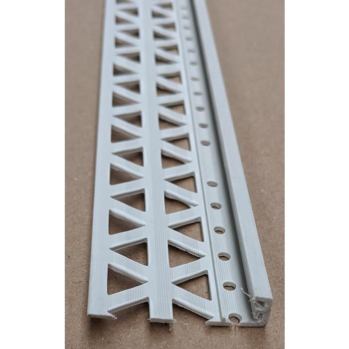 Light Grey 10 - 12mm Render Depth PVC Stop Bead 42mm x 2.5m 1 Length