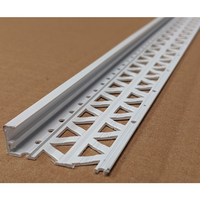 White 13 - 15mm Render Depth PVC Stop Bead 42mm x 3m 1 Length
