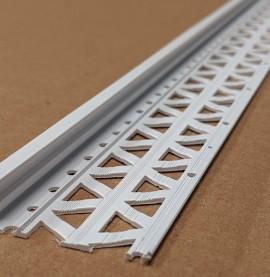 White 13 - 15mm Render Depth PVC Stop Bead 42mm x 2.5m 1 Length