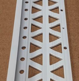 White 13 - 15mm Render Depth PVC Stop Bead 42mm x 3m 1 Length