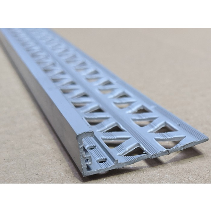 Dark Grey 13 - 15mm Render Depth PVC Stop Bead 42mm x 3m 1 Length
