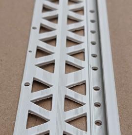 Light Grey 13 - 15mm Render Depth PVC Stop Bead 42mm x 2.5m 1 Length