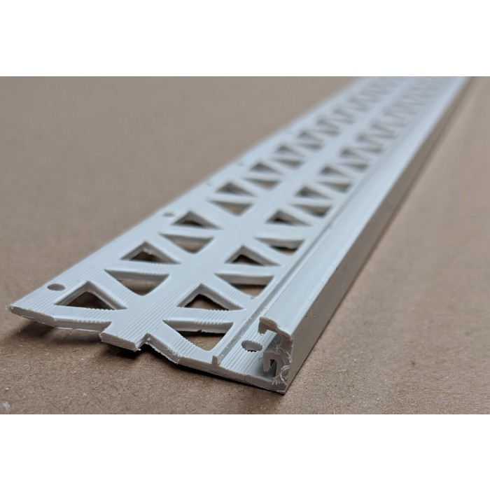 Light Grey 13 - 15mm Render Depth PVC Stop Bead 42mm x 2.5m 1 Length
