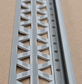 Grey 15 - 17mm Render Depth PVC Stop Bead 42mm x 2.5m 1 Length