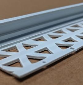White 15 - 17mm Render Depth PVC Stop Bead 42mm x 3m 1 Length