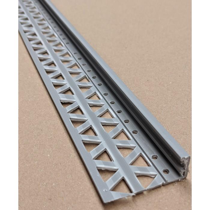 Grey 15 - 17mm Render Depth PVC Stop Bead 42mm x 2.5m 1 Length