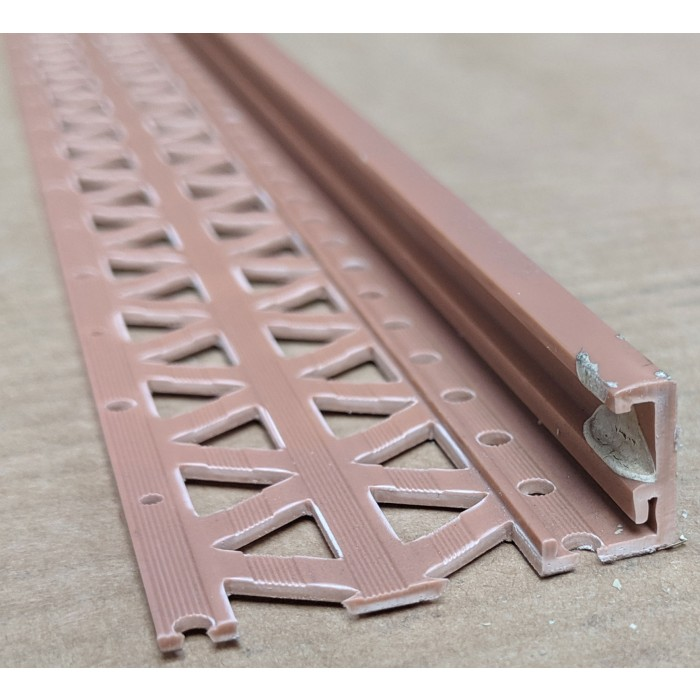 Terracotta 15 - 17mm Render Depth PVC Stop Bead 42mm x 2.5m 1 Length