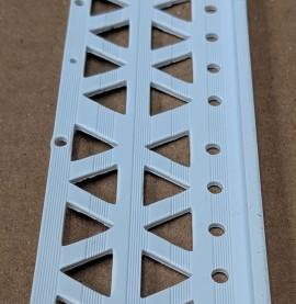 White 6 - 8mm Render Depth PVC Stop Bead 42mm x 2.5m 1 Length
