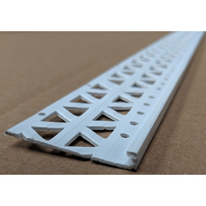White 6 - 8mm Render Depth PVC Stop Bead 42mm x 2.5m 1 Length