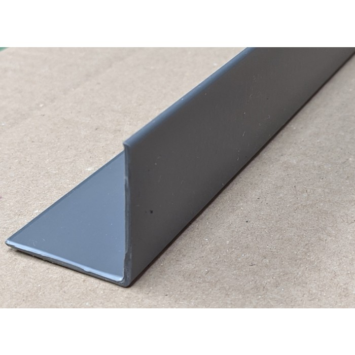 Trim-Tex Grey 38.1mm x 38.1mm x 2.4m PVC Corner Guard 1 Length