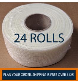 Profilestore Self Adhesive Scrim Tape Bundle. 1 Box Containing 24 Rolls