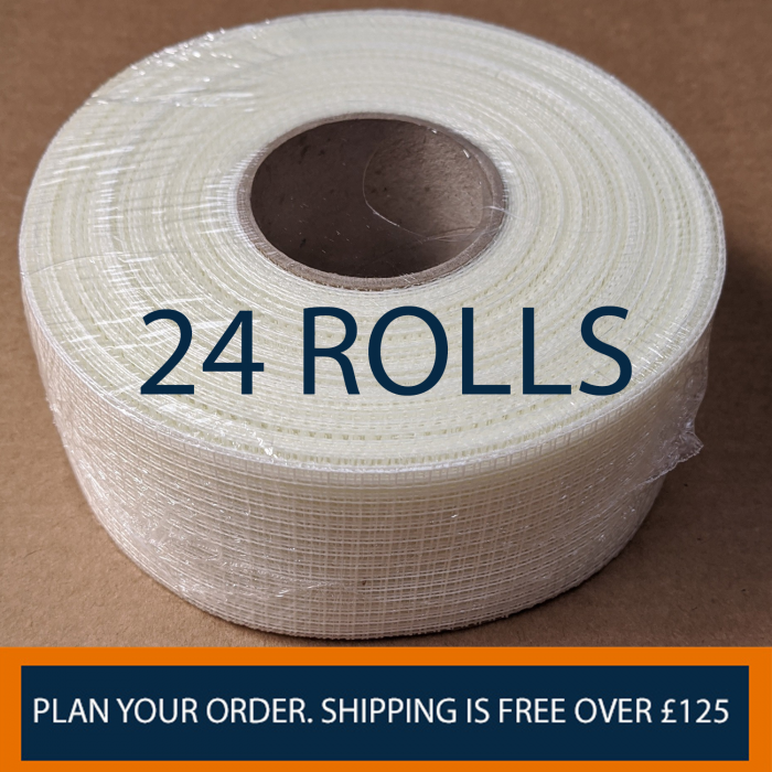 Profilestore Scrim Tape Bundle. 1 Box Contains 24 Rolls