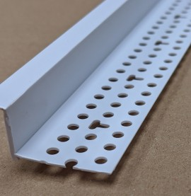 Trim-Tex Shadow Gap White PVC Feature Bead Profile 15.8mm x 6.3mm x 305cm 1 length AS5710