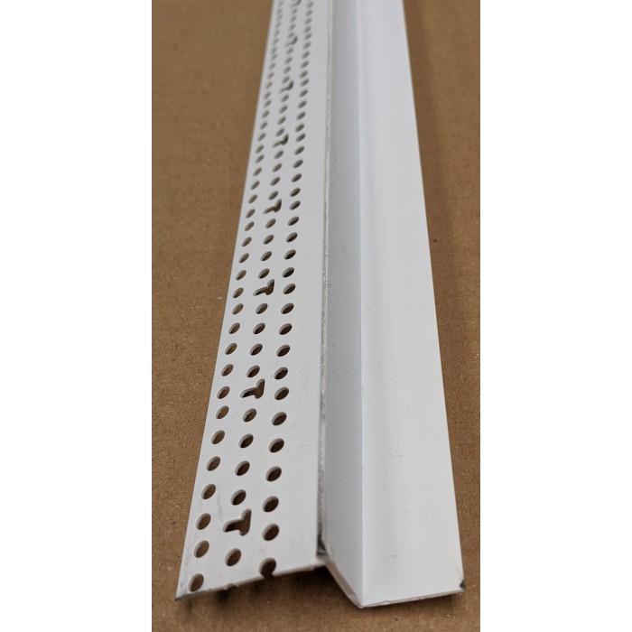 Trim-Tex Shadow Gap White PVC Feature Bead Profile 15mm x 19mm x 305cm 1 length AS5910