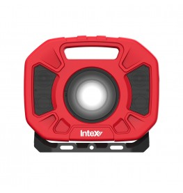 InteX Lumo Water Resistant Cordless LED Work Light With Bluetooth Speakers
