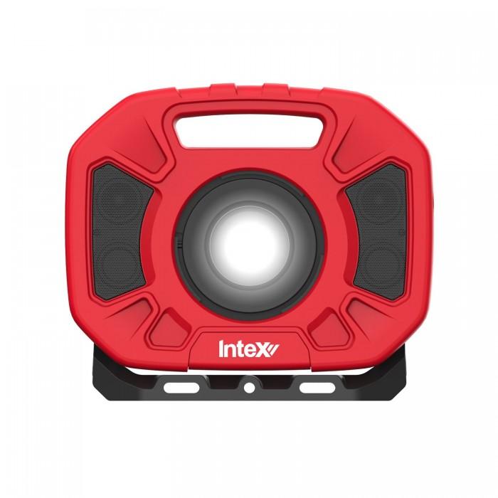 InteX Lumo Water Resistant LED Work Light With Bluetooth Speakers