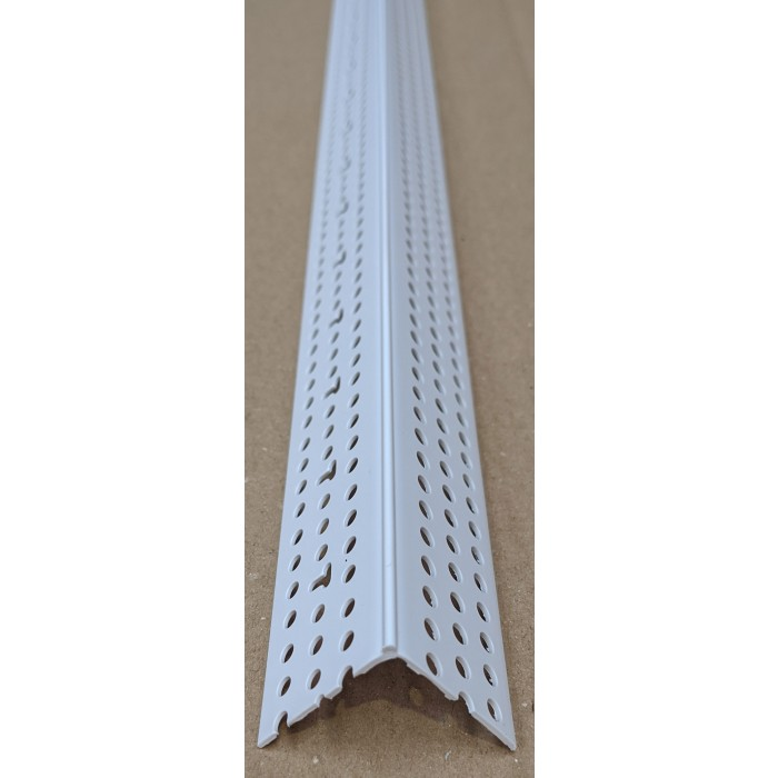 Trim-Tex Low Profile White PVC Slimline Corner Bead Part Number 6008 2.4m 1 Length.