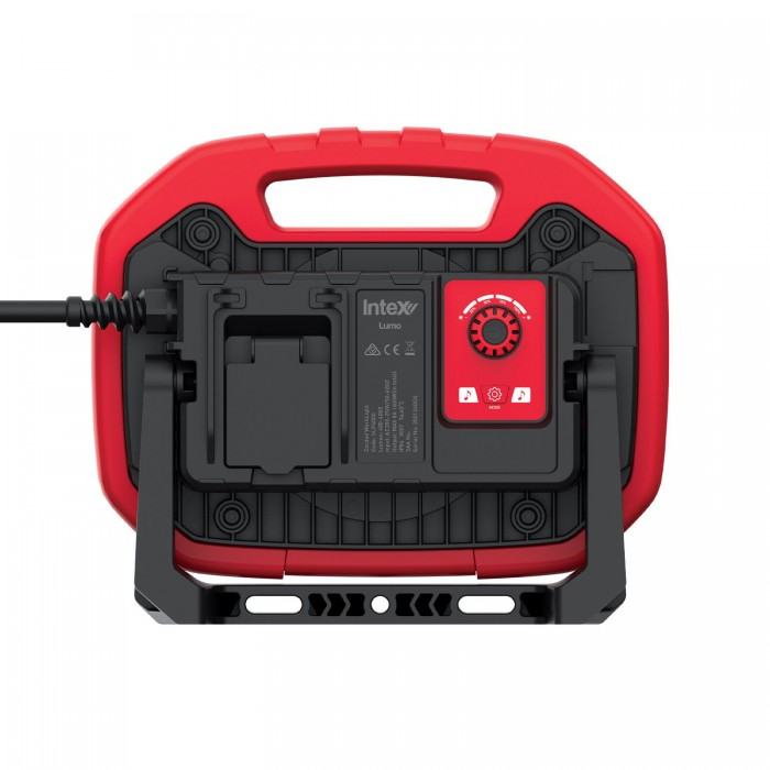 InteX Lumo Water Resistant 240v Corded LED Work Light With Bluetooth Speakers