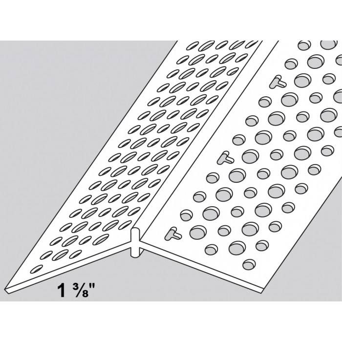 Trim-Tex Adjustable Splayed PVC Corner Bead 1 Length RS10