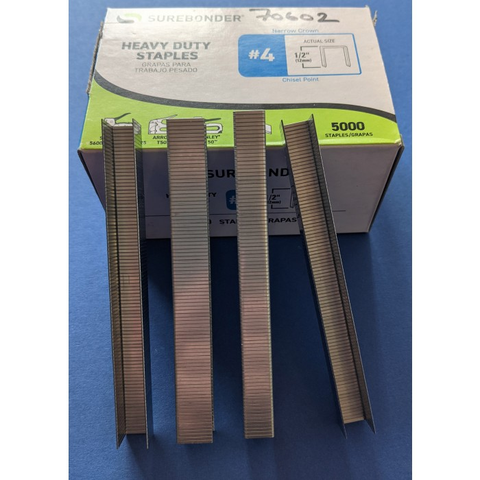 """Duo-Fast ½"""" Chisel Point Staples Box of 5000"""