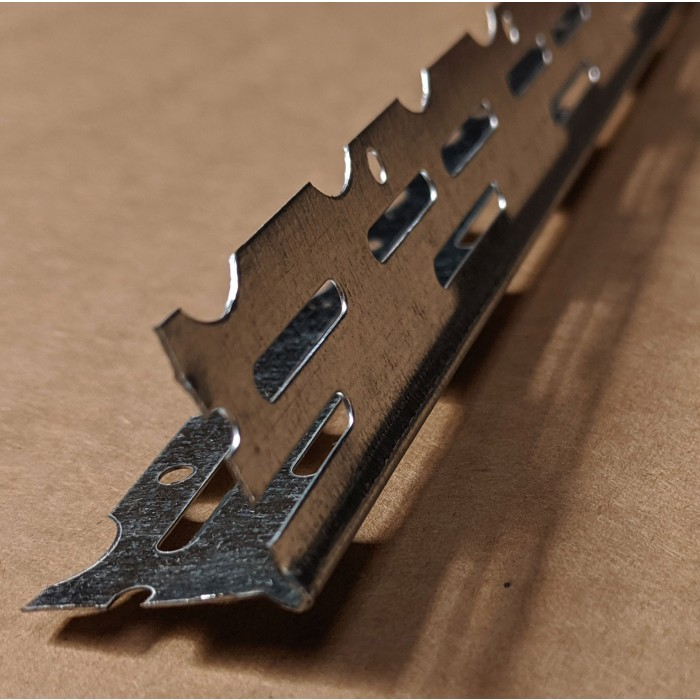 Thin Coat 22mm Galvanised Steel Bead 2.4m 1 Length