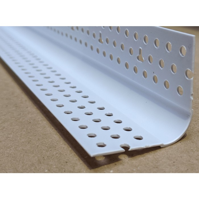 Trim-Tex 350 Bull Nosed Corner Bead White PVC 3m 1 Length