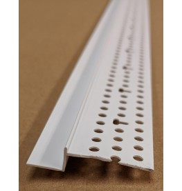 Trim-Tex 6mm x 12.7mm White PVC Shadow Feature Bead Profile 3m 1 length AS5450