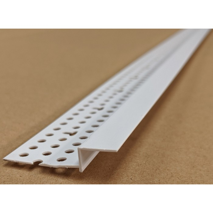 Trim-Tex 6mm x 12.7mm White PVC Shadow Feature Bead Profile 3m 1 length AS5450