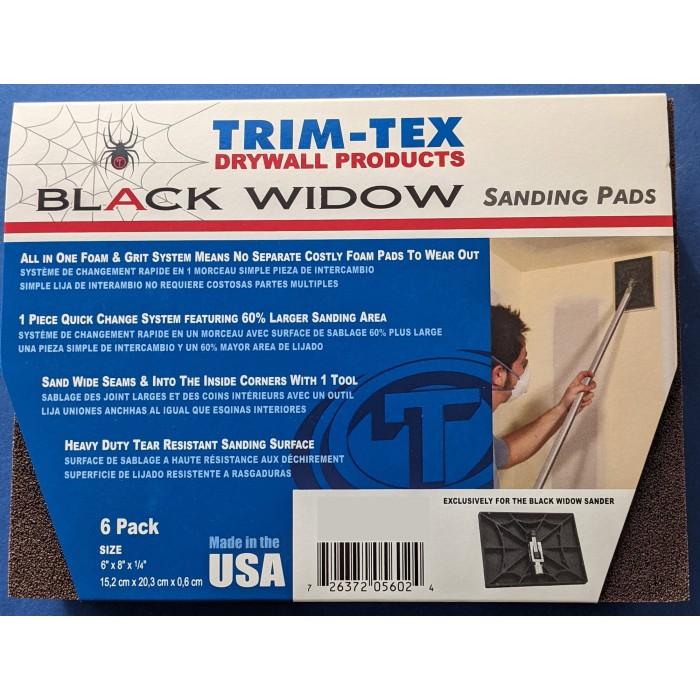 Trim-Tex Black Widow 6 Pack Sanding Pads Course Grit Part Number 560-C