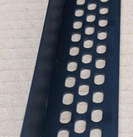 Wemico 30mm x 30mm x 2.5m Black PVC Ventilation Angle 1 Length