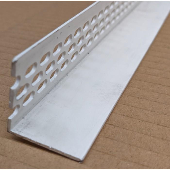 Wemico 30mm x 30mm x 2.5m White PVC Ventilation Angle 1 Length