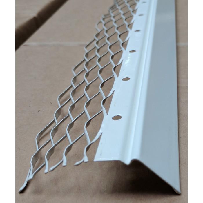 Wemico 20mm Render Bellcast Galvanised White Polyester Powder Coating 3m 1 Length