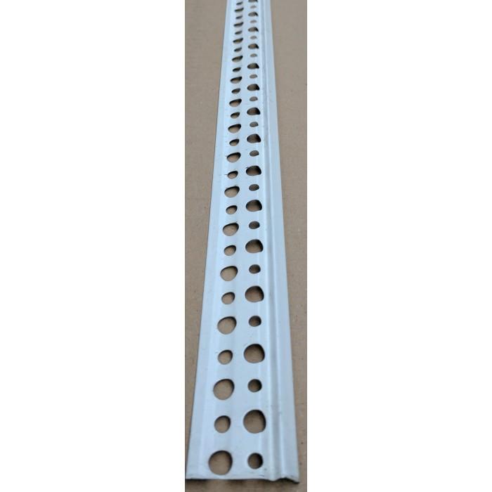 Wemico 6mm Perforated White Galvanised Bellcast Bead 3.0m (1 length)