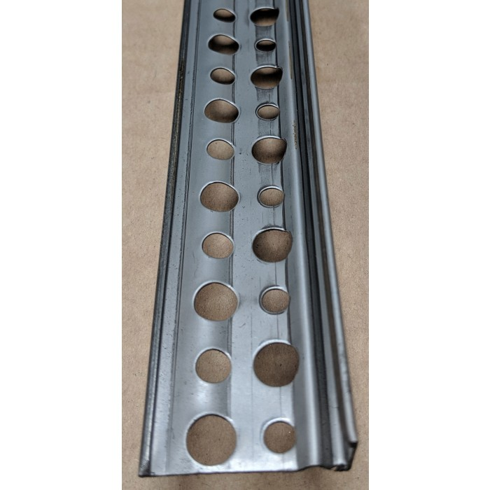 16mm Render Depth Stainless Steel Render Bellcast Drip Bead With Perforated Wing 3m 1 Length