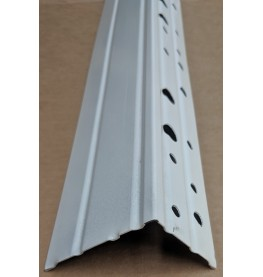 Wemico 70mm Galvanised Steel with White Powder Coating Stop Bead 3m 1 Length