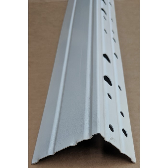 Wemico 70mm Galvanised Steel with White Powder Coating Stop Bead 3.0m (1 length)