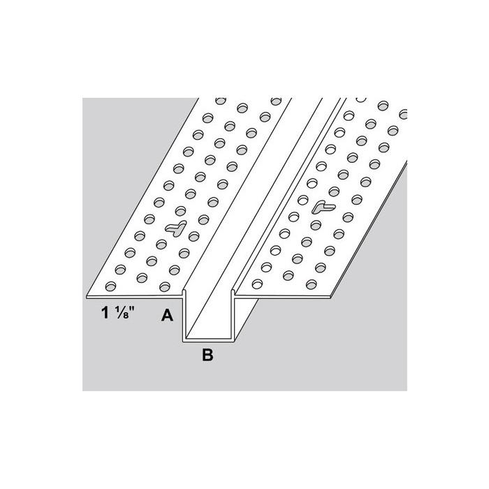 Trim-Tex 20mm White PVC Architectural Reveal Bead Profile 3m 1 length AS5210