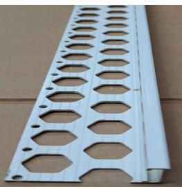Renderplas White PVC 20mm - 22mm  x 40mm x 3.8mm x 2.5m Stop Bead 1 Length